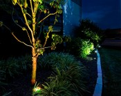 LED In Ground Well Light - 9 x 1W High Power RGB LEDs- Installed Below Tree (Lights Below Bushes-GLUX-x3W-S30)