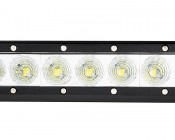 "14"" Compact Off Road LED Light Bar - 36W: Close Up View Of Secondary Optics & Reflector"