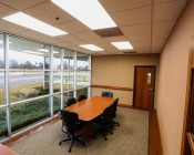 50W LED Panel Light Fixture - 4ft x 2ft: Shown Installed In Conference Room In Natural White.