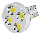 Cool White 4 High Power LED Wedge Base Bulb