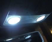 67 LED Bulb - 12 LED Forward Firing Cluster - BA15S Retrofit: Installed in Map Lights