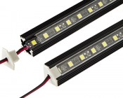 Klus B4023_K7 - 45-ALU series Corner Mount Black Aluminum LED Profile Housing: Assembled With LED Light Strip