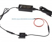 CPS-MxFSW Compact Power Supply to In-line Switch: Showing Switch Attached To Power Supply & Light.