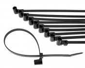 Black Cable Ties - 10 Pack - 16 Inch Long Stud Mount