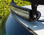 "50"" Off Road Curved LED Light Bar - 288W: Installed On Top Of Truck"