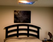 Custom Printed Skylens™ Fluorescent Light Diffuser - Decorative Light Cover - 2' x 2': Installed in Ceiling Fixture Above Bed