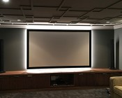 High CRI LED Strip Light - 24V LED Tape Light w/ LC2 Connector - High Density - 513 Lumens/ft.: Customer Submitted Photo of Strip Installed Behind Projector Screen. Thanks Shawn!