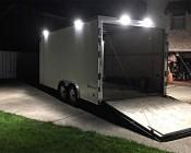 """16"""" RV Awning Lights/Porch Lights - RV Interior/Exterior Lights - 130 Watt Equivalent: Customer Photo of Lights Installed on Box Trailer. Thanks Daniel!"""