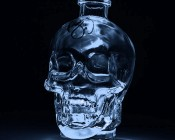 Submersible LED Accent Light with Infrared Remote: Placed Under Glass Skull
