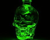 Submersible RGB LED Accent Light with Infrared Remote: Placed Under Glass Skull