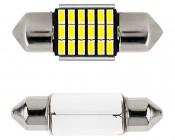 DE3022 CAN Bus LED Bulb - 18 SMD LED Festoon - 31mm: Front View