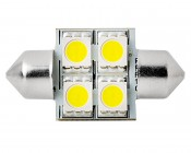 DE3175 LED Bulb - 4 SMD LED Festoon: Front View