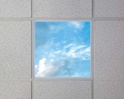Replacement Diffuser for Non-Dimmable Even-Glow® LED Panel Lights - Summer Sky LUXART® Print - 2' x 2'