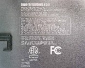 Dimmable 40W LED Panel Light Fixture - 2ft x 2ft: Close Up of Label
