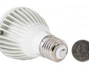 PAR20 LED Bulb - 8W Dimmable LED Spot Light Bulb: Back View With Size Comparison
