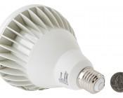PAR38 LED Bulb - 18W Dimmable LED Flood Light Bulb: Back View With Size Comparison
