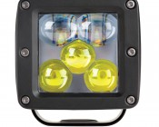 """LED Driving Light - 3"""" Square - 25W: Front View"""