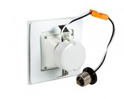 """Retrofit Square LED Can Lights for 4"""" Fixtures - 75 Watt Equivalent - LED Can Light Conversion Kit - Dimmable - 745 Lumens: Back View"""