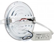 "5"" Round LED Panel Light - 9W: Back View"