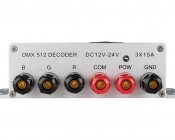 LED DMX 512 Decoder - 15 Amp - 3 Channel: back View