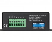 LED DMX 512 Decoder/RDM Controller - 8 Amp 3 Channel or 6 Amp 4 Channel: Back View
