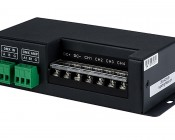DMX-4CH-5A 5 Amp 4 Channel LED DMX Controller/Decoder: Back View