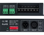 DMX-4CH-5A 5 Amp 4 Channel LED DMX Controller/Decoder: Front And Back Sides