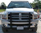 "50"" Off Road Curved LED Light Bar - 288W:  Installed On Top Of Dodge Ram With Mounting Brackets (Sold Separately)"