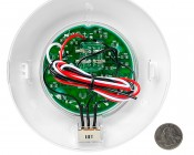 5.5 Watt Round Dome Light LED Fixture with 3 Position Switch: Back View with Size Comparison