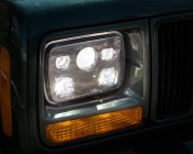 Rectangular H6054 LED Projector Headlights - DOT Approved LED Headlights Conversion: Installed in Jeep
