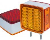 Double Face Square Pedestal Lamp