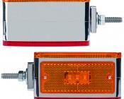 Double Face Square Pedestal Lamp: Side Views Of LED Pedestal Lamp