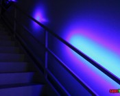SEDC series Dream-Color Flexible RGB LED Strip on stairs