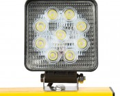 Dual Head Portable LED Work Lights with Tripod Stand - 3,600 Lumens: Showing Front View Included Work Lights.
