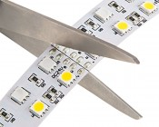 Dual Row LED Light Strips with Multi Color + White LEDs - LED Tape Light with 36 SMDs/ft., 3 Chip RGBW SMD LED 5050: Scissors