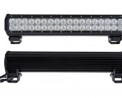 """17"""" Heavy Duty Off Road LED Light - 108W: Front & Back View"""