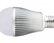 E27 RGB LED, 6W: Profile View