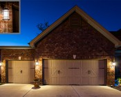 E27 LED Bulb - 13W: Warm White Bulbs Installed On Garage Exterior Post Lights