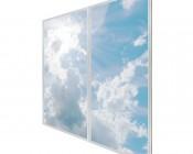 Multi LED Panel Light Display - Skylight Prints - Even-Glow® LED Panels:  Sun Beams on Two 2x4 Panels