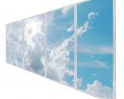 Multi LED Panel Light Display - Skylight Prints - Even-Glow® LED Panels: Sun Beams on Four 2x4 Panels