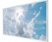 Even-Glow LED Panel Light - Sun Beams LUXART Print - 2' x 4'