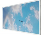 Even-Glow LED Panel Light - Jet Set LUXART Print - 2' x 4'
