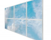 Multi LED Panel Light Display - Skylight Prints - Even-Glow® LED Panels: Summer Sky on Three 2x2 Panels