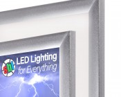 "12V LED Light Box Panels w/ Custom-Printed LUXART® Diffuser - Ultra-Thin Even-Glow® Light Fixtures - 11""x11"", 11""x23"""