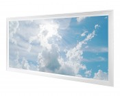 LED Skylight - 2x4 Dimmable Even-Glow® LED Panel Light w/ SkyLens® - Sun Beams - Flush Mount