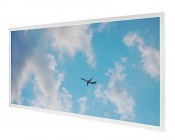 Tunable White LED Skylight - 2x4 Dimmable Even-Glow® LED Panel Light w/ SkyLens® - Jet Set - Drop Ceiling Recessed Mount