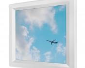 LED Skylight - 1x1 Dimmable Even-Glow® LED Panel Light - Jet Set - Flush Mount