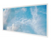 Tunable White LED Skylight - 2x4 Dimmable Even-Glow® LED Panel Light w/ SkyLens® - Summer Sky - Drop Ceiling Recessed Mount