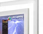 """Tunable White LED Light Box Panel w/ Custom-Printed LUXART® Diffuser - Ultra-Thin Dimmable Even-Glow® Light Fixture - Stand Alone - 23""""x46"""""""