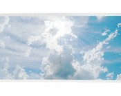 LED Skylight w/ Sun Beams Skylens® - 2x4 Dimmable LED Panel Light - Drop Ceiling Recessed Mount